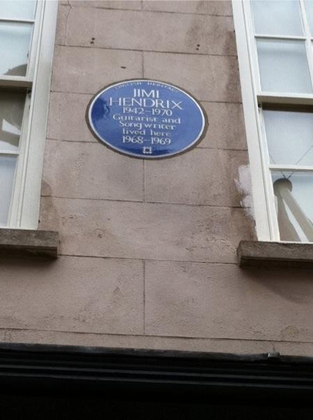 Jimi's plaque