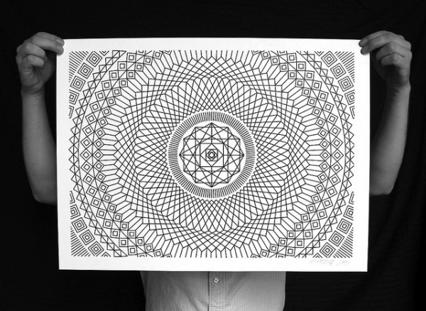 Numerically controlled Sharpie drawing