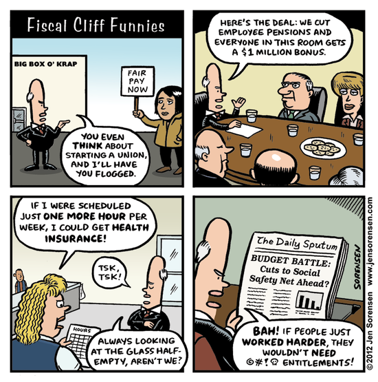 Fiscal Cliff Funnies, from Daily Kos